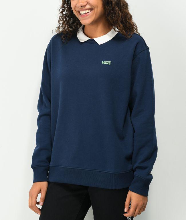 Vans x Brighton Zeuner Navy Long Sleeve Polo Shirt