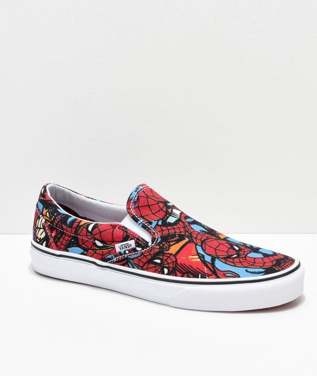 Vans x Marvel Slip On Spiderman Red