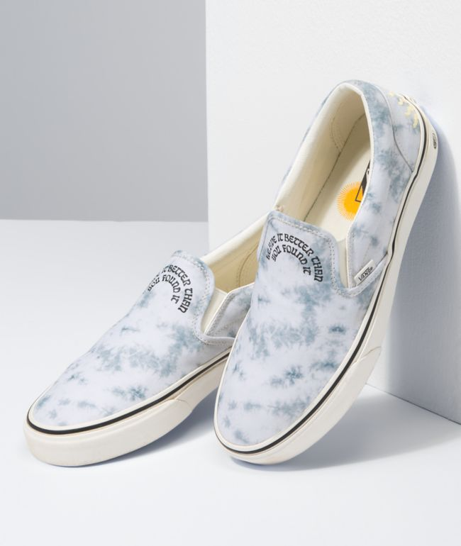 Vans x Park Project Slip-On White & Grey Tie Dye Skate Shoes