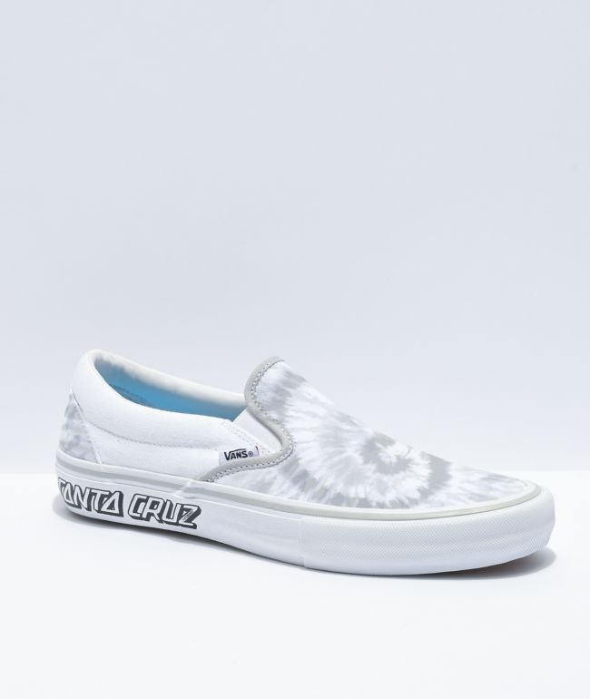 Vans x Santa Cruz Slip-On Pro White Skate Shoes