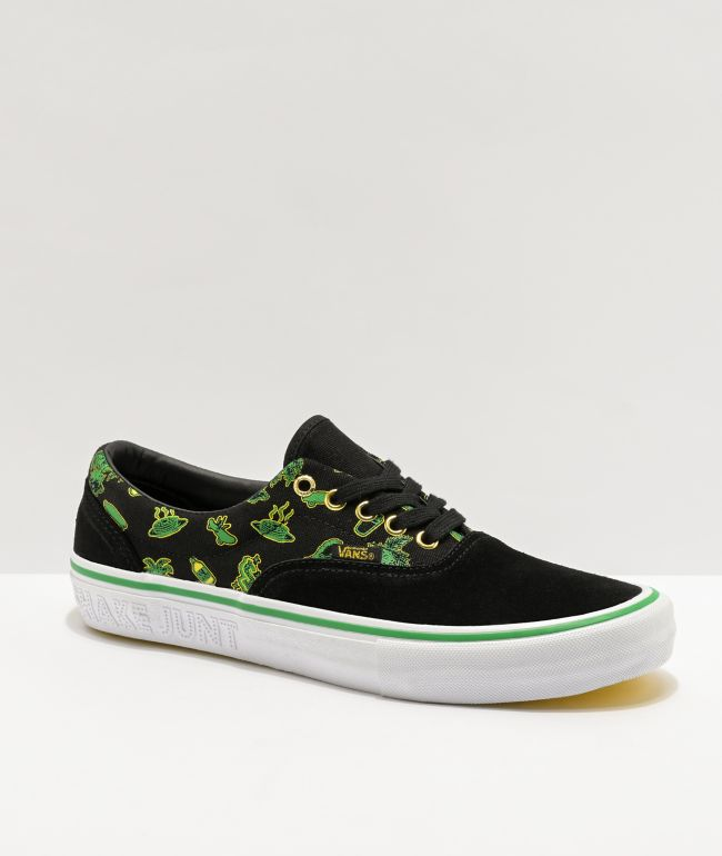 Vans x Shake Junt Era Pro Black, Green & White Skate Shoes