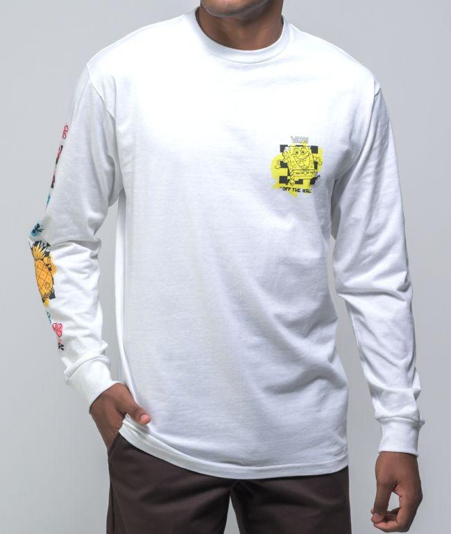 Vans x SpongeBob SquarePants Airbrush White Long Sleeve T-Shirt