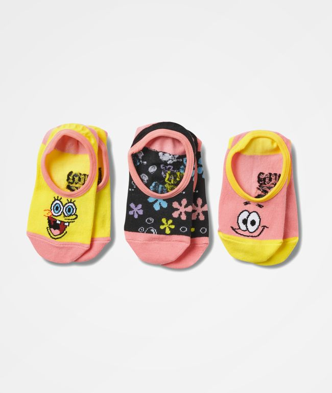 Vans x SpongeBob SquarePants Canoodle 3 Pack No Show Socks