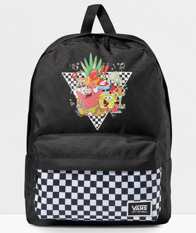 Vans x SpongeBob SquarePants Realm Black Backpack