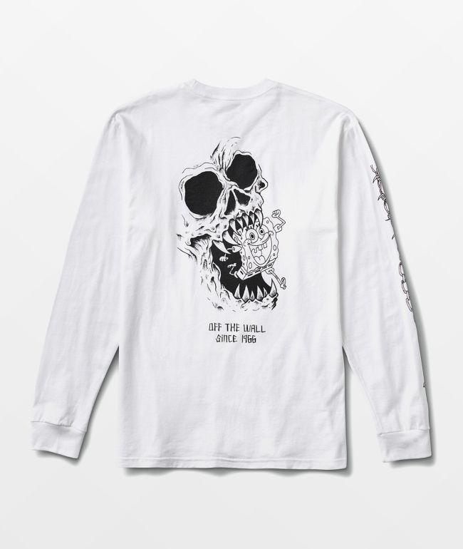 Vans x SpongeBob SquarePants Skull White Long Sleeve T-Shirt
