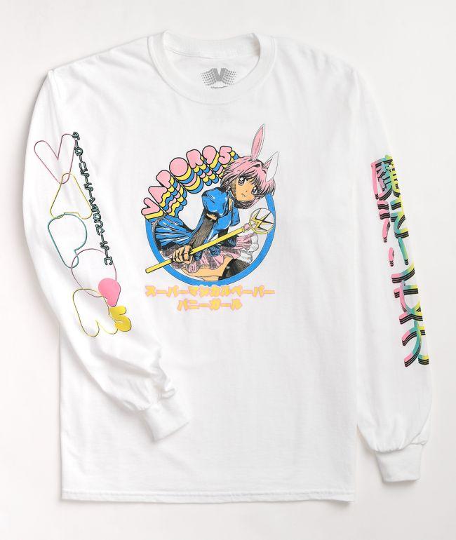 Vapor95 Kokoro White Long Sleeve T-Shirt