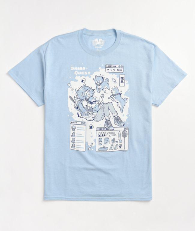 Vapor95 Shiba Quest Light Blue T-Shirt