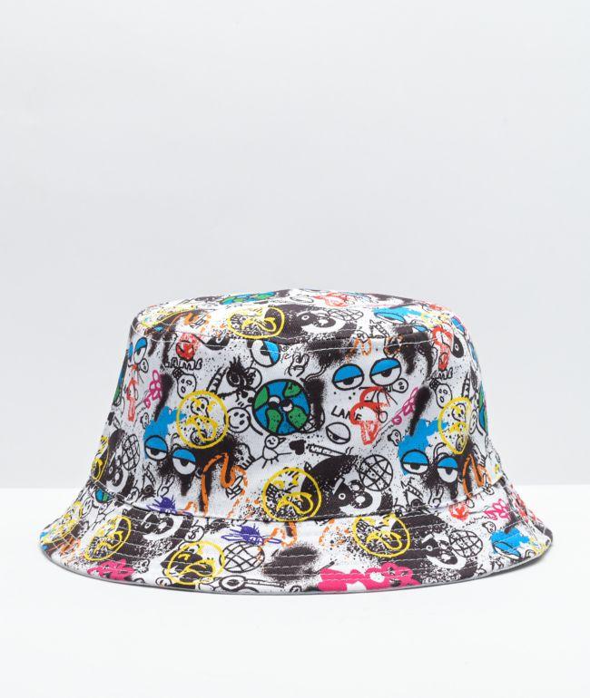 Vitriol Ghastly Graffiti & White Reversible Bucket Hat