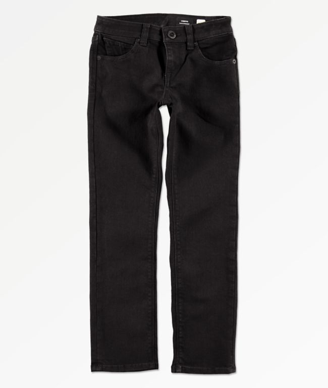 Volcom Boys Vorta Black Denim Jeans