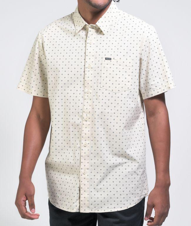 Volcom Hallock White Short Sleeve Button Up Shirt