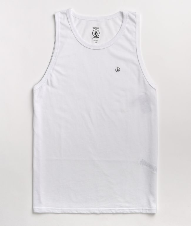 Volcom Solid White Tank Top
