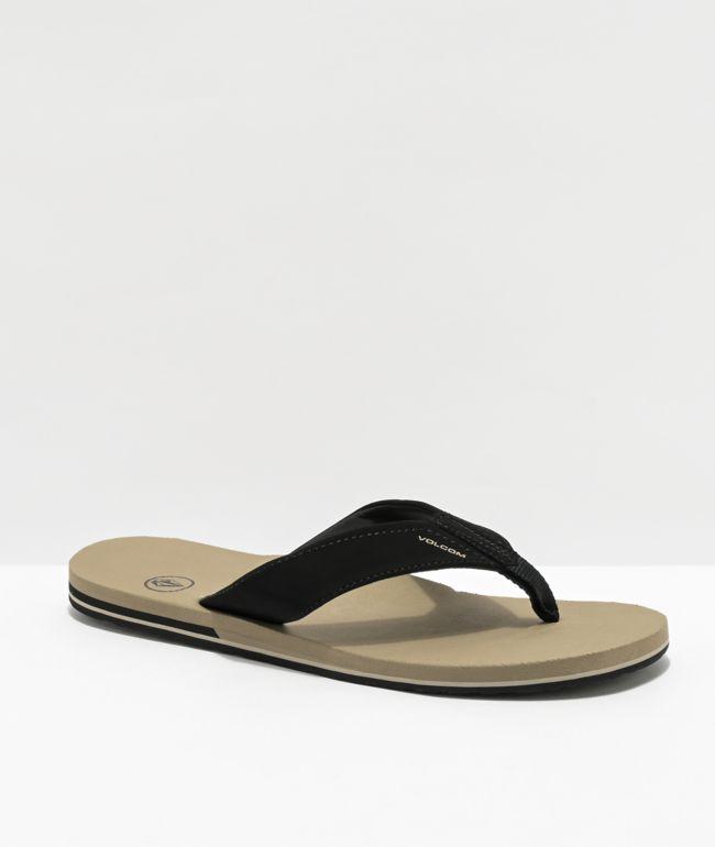Volcom Victor Chaussures pour Homme Flip Flops-Sombre Camouflage Toutes Les Tailles