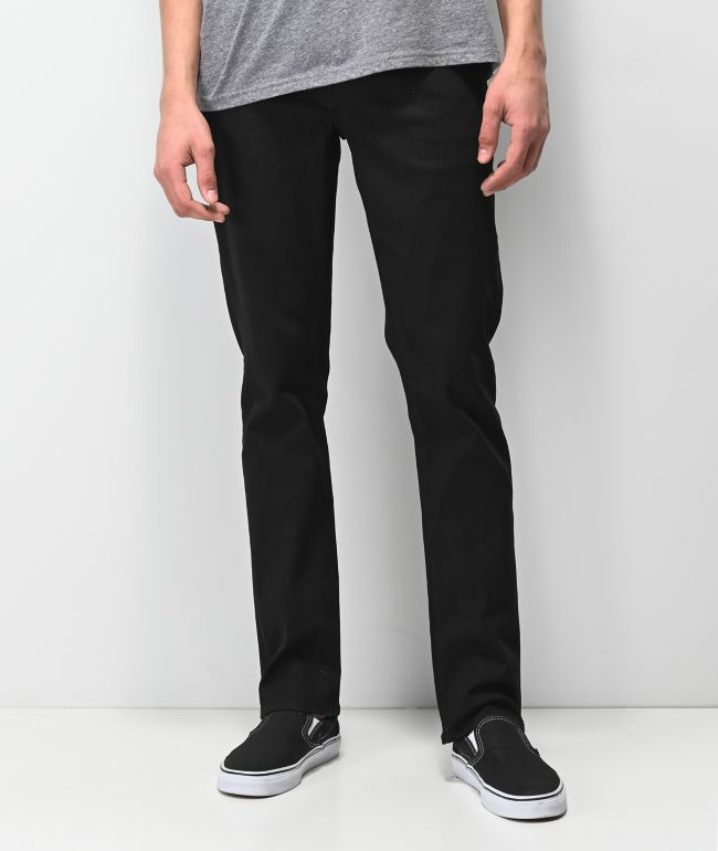 Volcom Vorta Black On Black Denim Jeans