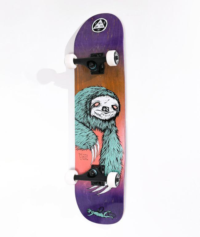 """Welcome Sloth 8.0"""" Skateboard Complete"""
