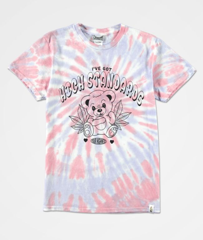 Your Highness High Standards Pink & Blue Tie Dye T-Shirt