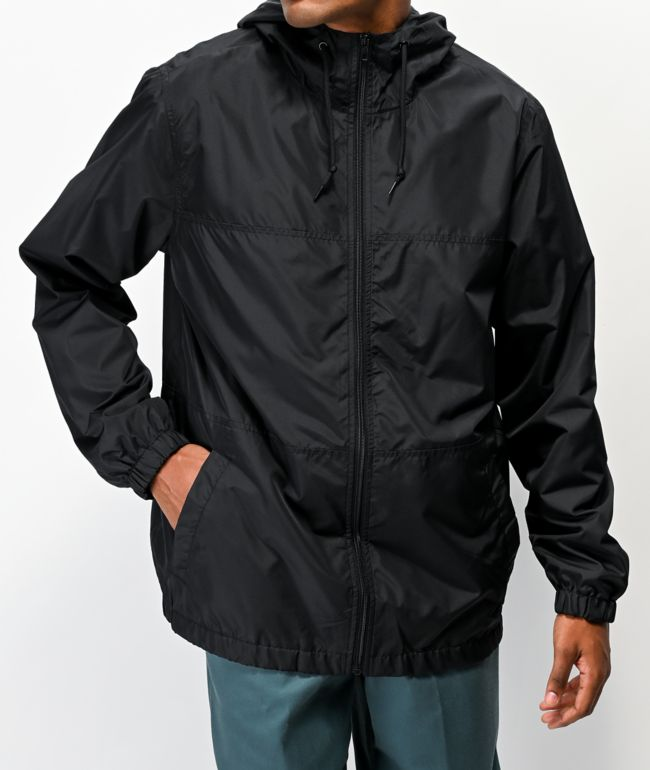 Zine Course Black Windbreaker Jacket