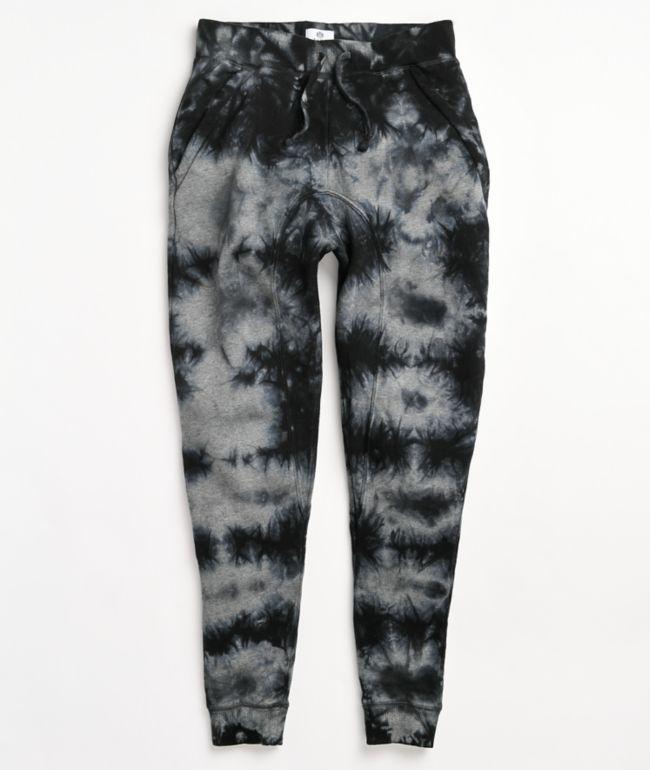 Zine Cover Black Tie Dye Jogger Sweatpants