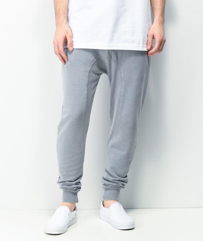 Zine Cover Washed Blue Jogger Sweatpants
