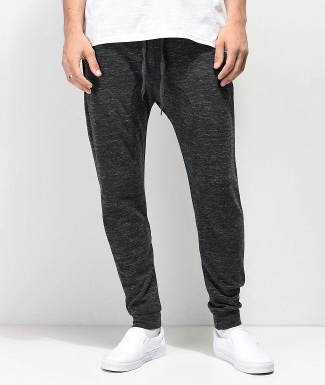 Zine Cover joggers de punto gris