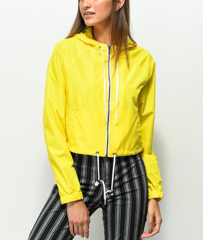 Zine Jaynie Yellow Crop Windbreaker