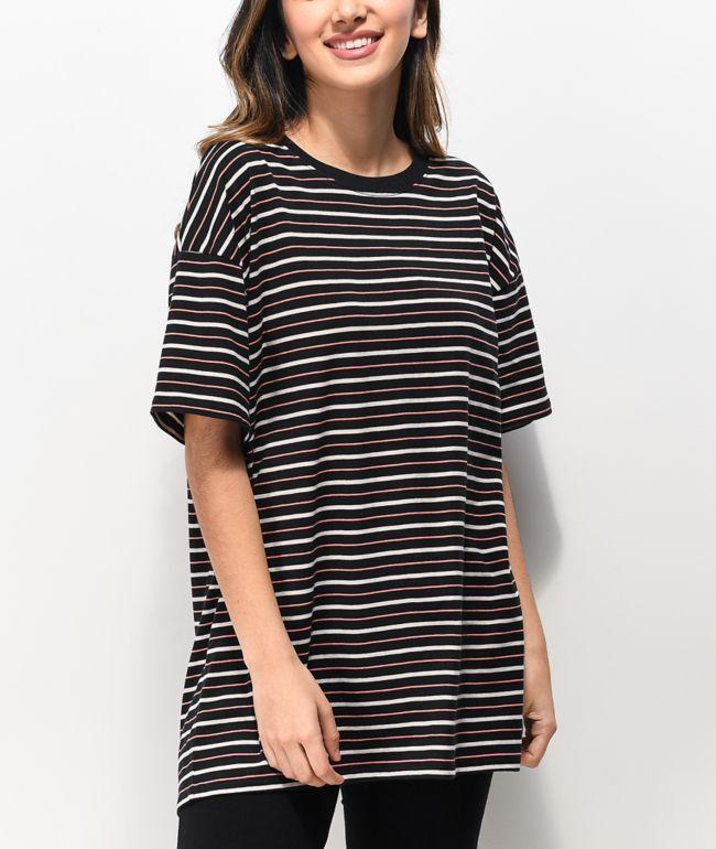 Zine Maya Black & Pink Stripe T-Shirt
