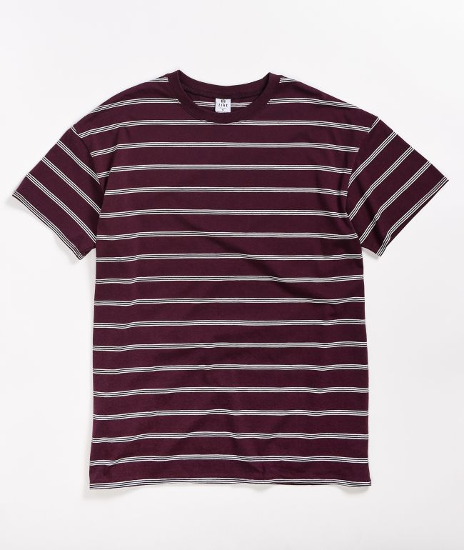 Zine Maya Burgundy Striped T-Shirt