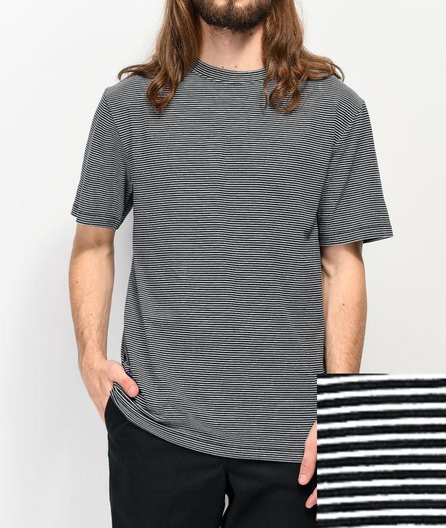Zine Micro camiseta negra y blanca de rayas