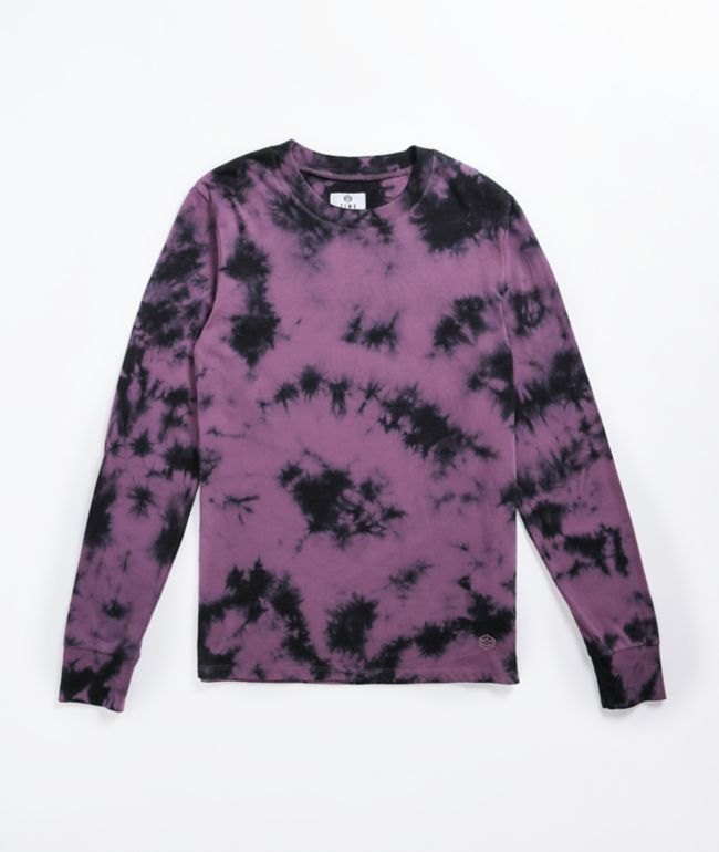 Zine Monroe Purple Tie Dye Long Sleeve T-Shirt