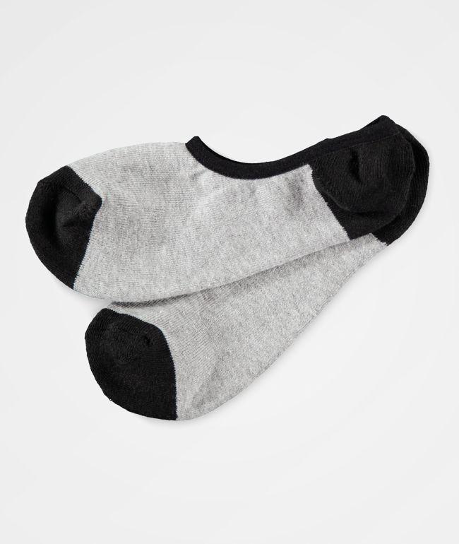 Zine No Show Heather Grey Socks