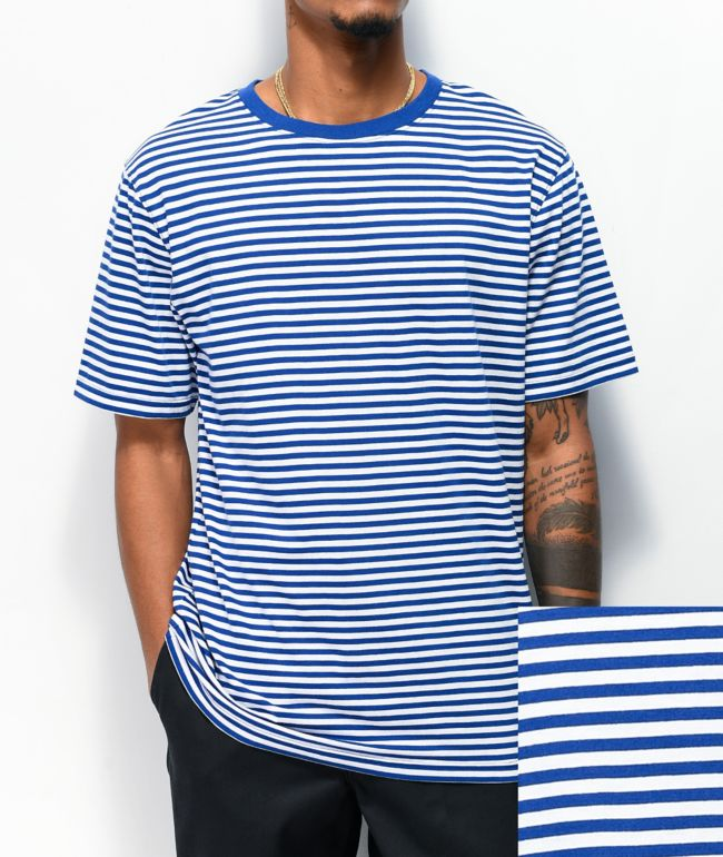 Zine Ranked Blue & White Striped T-Shirt