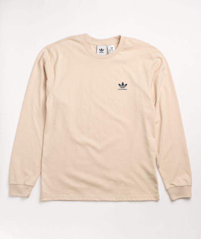 adidas 2.0 Logo Ivory Long Sleeve T-Shirt