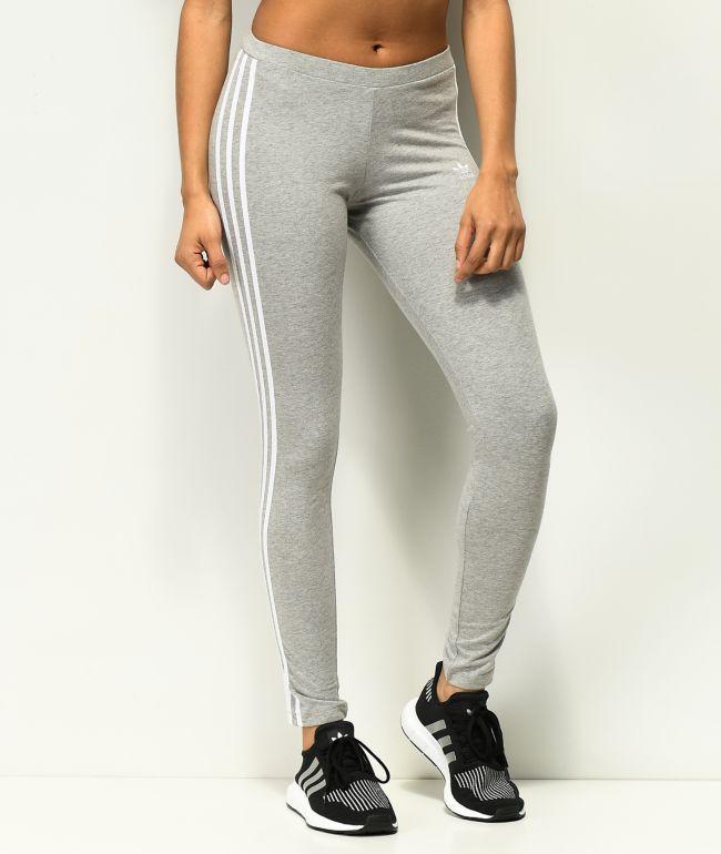 adidas 3 Stripe leggings grises