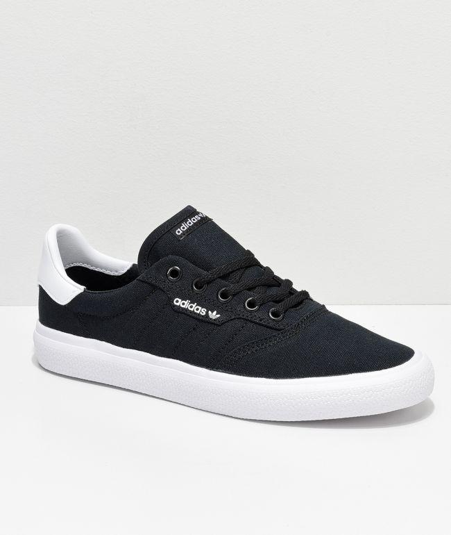 Esperar algo Rana bombilla  adidas 3MC Black & White Canvas Shoes | Zumiez