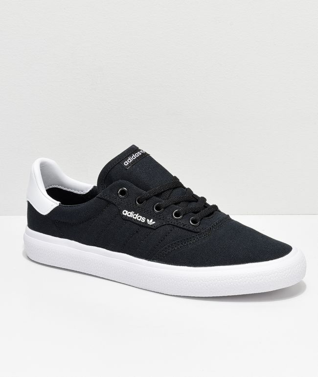 adidas 3MC Black & White Canvas Shoes
