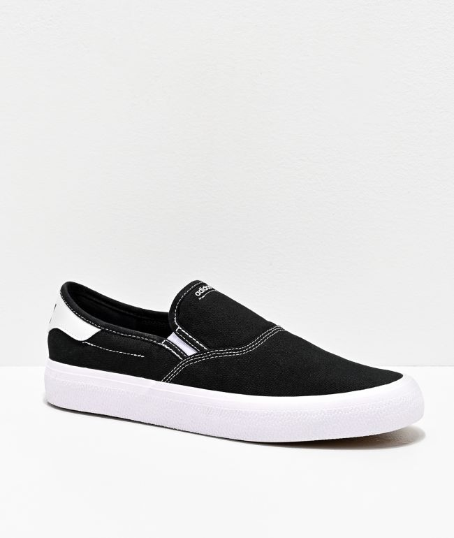 black and gold slip on shoes