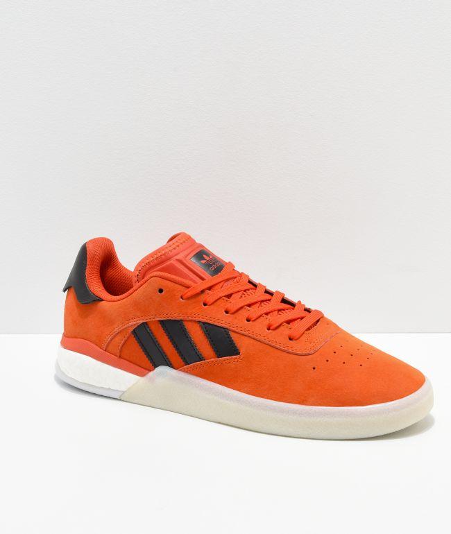 adidas 3ST.004 Orange \u0026 White Shoes