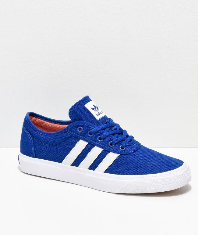 blue white adidas shoes