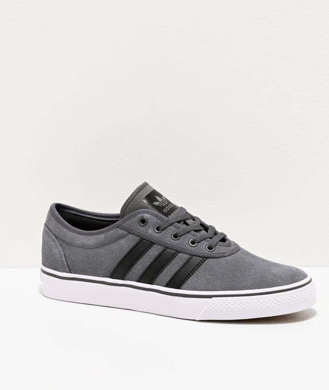 adidas AdiEase Suede Grey \u0026 White Shoes