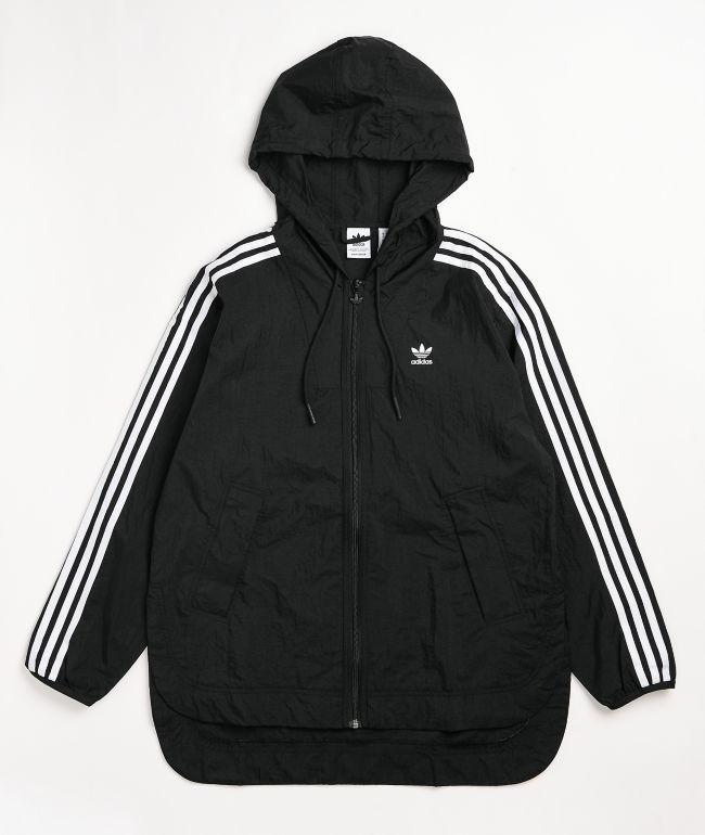 adidas Adicolor Classics Black Windbreaker Jacket