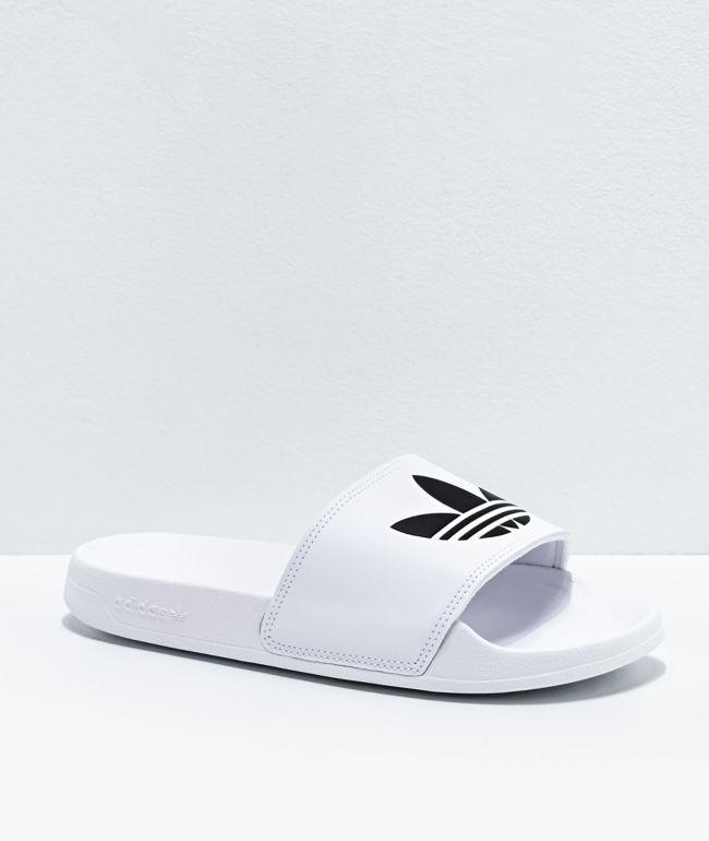 adidas Adilette Lite White & Black Slide Sandals