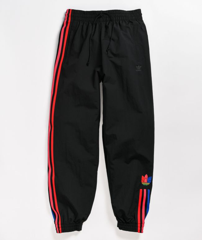 adidas Black & Multicolor Track Pants