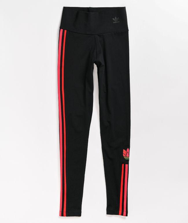 adidas Black & Red Leggings