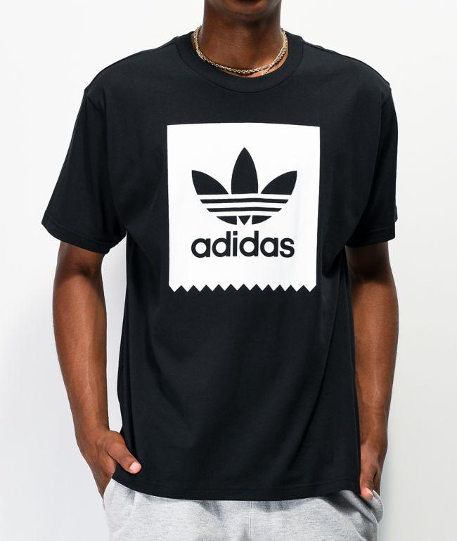 espía Mm Horizontal  adidas Blackbird camiseta negra y blanca   Zumiez