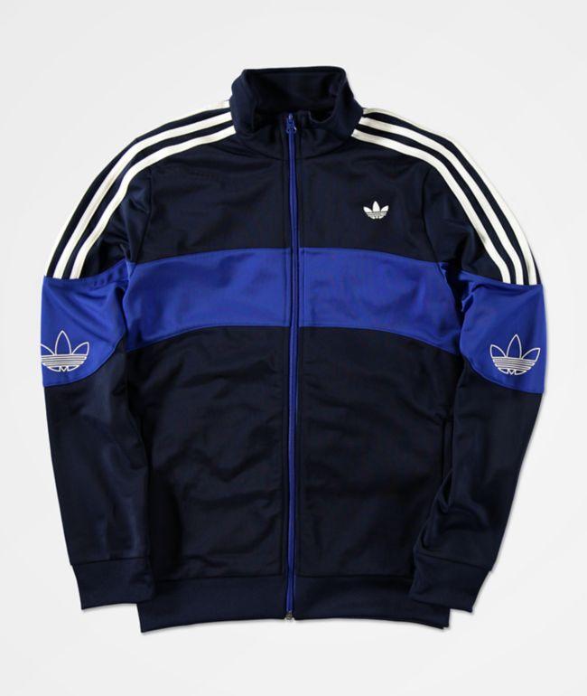 adidas Boys Bandrix Blue Track Jacket