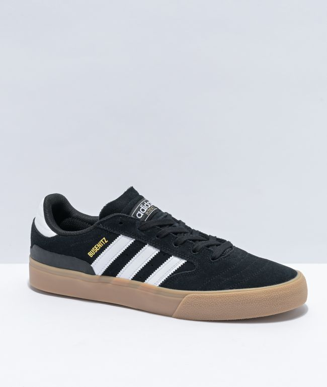 adidas Busenitz Black, White & Gum Vulcanized Shoes