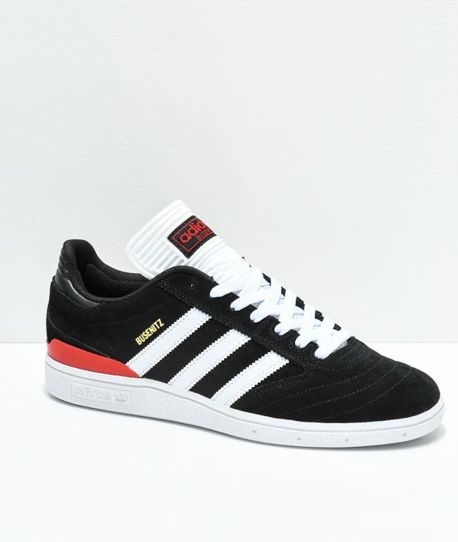 adidas Busenitz Black, White \u0026 Red