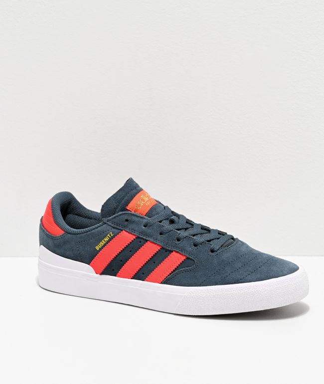 adidas Busenitz Vulc II Blue, Red & White Shoes