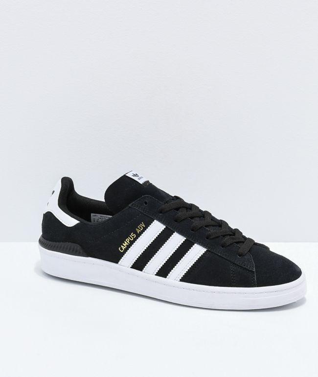 adidas Campus ADV Black \u0026 White Shoes