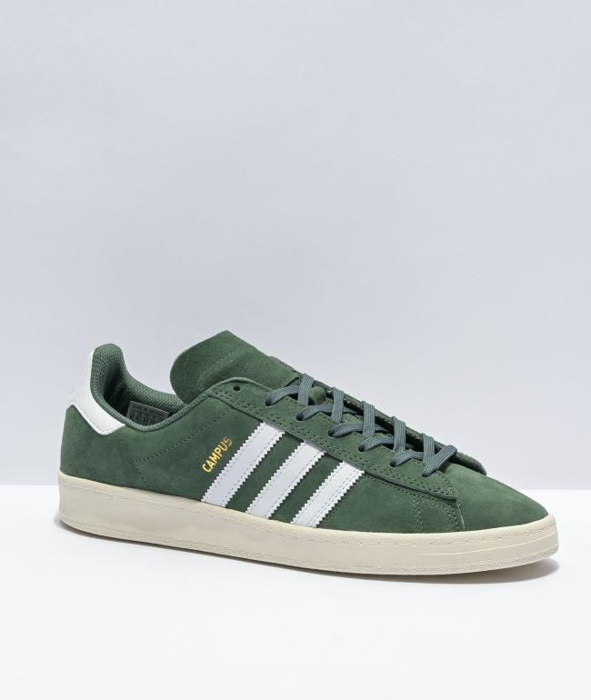 adidas Campus ADV Green Oxide & White Skate Shoes