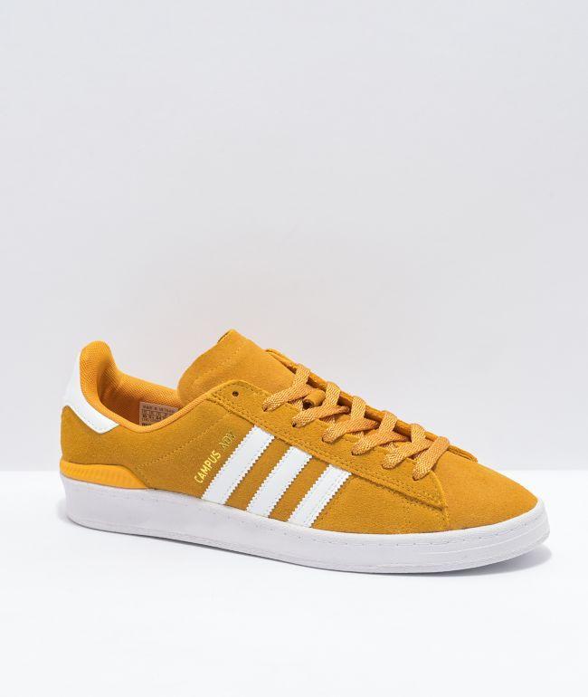 adidas Campus ADV Yellow \u0026 White Shoes